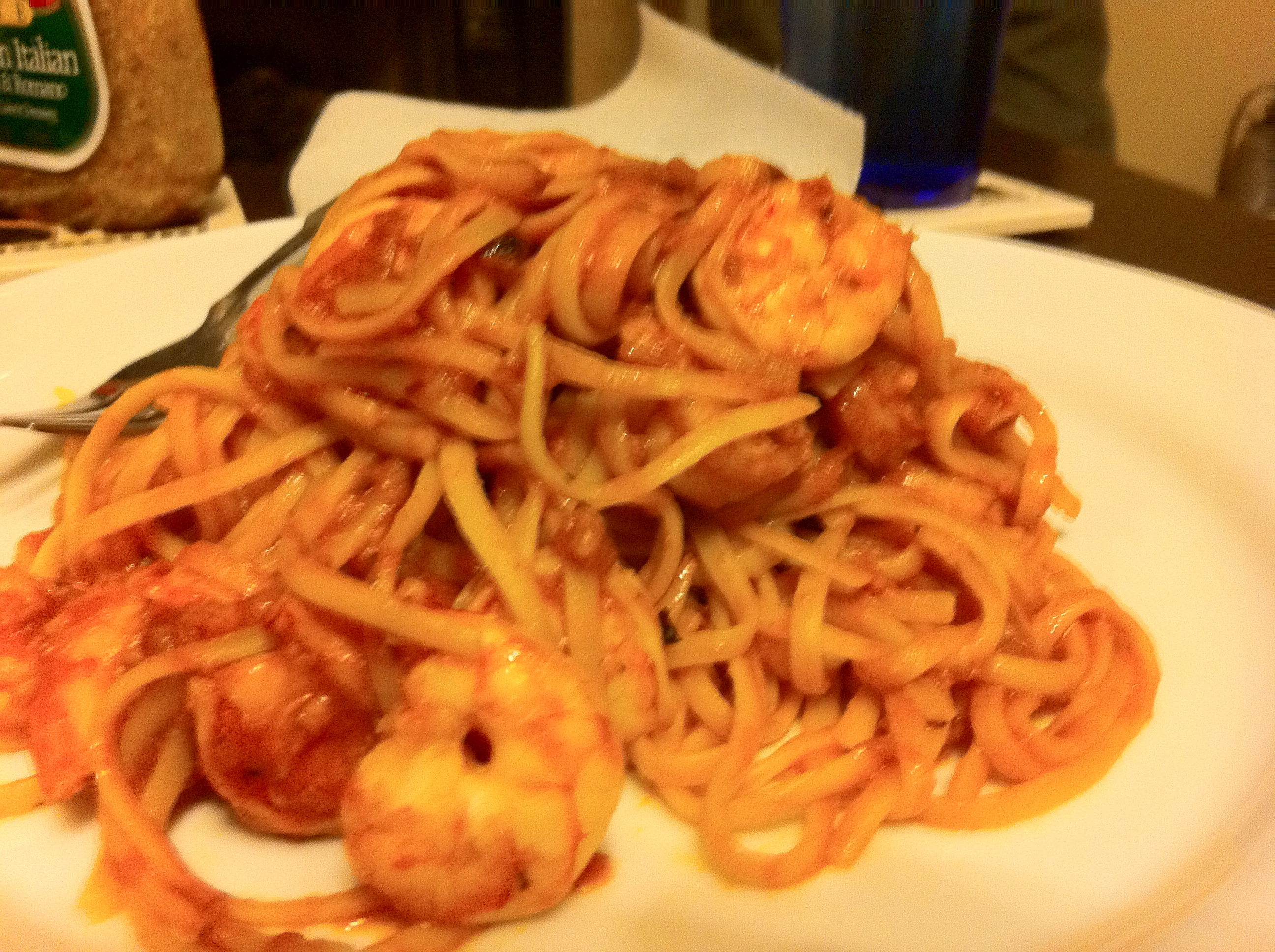 Shrimp and Angel Hair Fra Diavolo by Aurora Meyer on aurorameyer.com