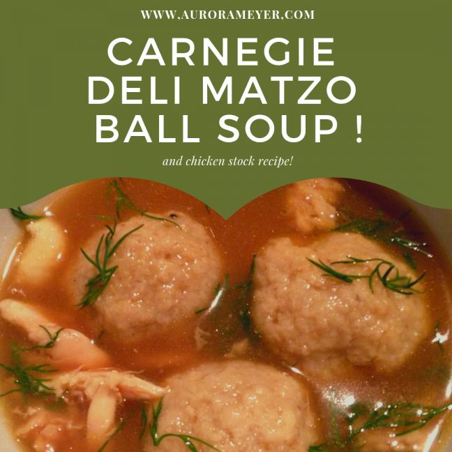Easy Matzo Ball Soup Recipe by Aurora Meyer on aurorameyer.com