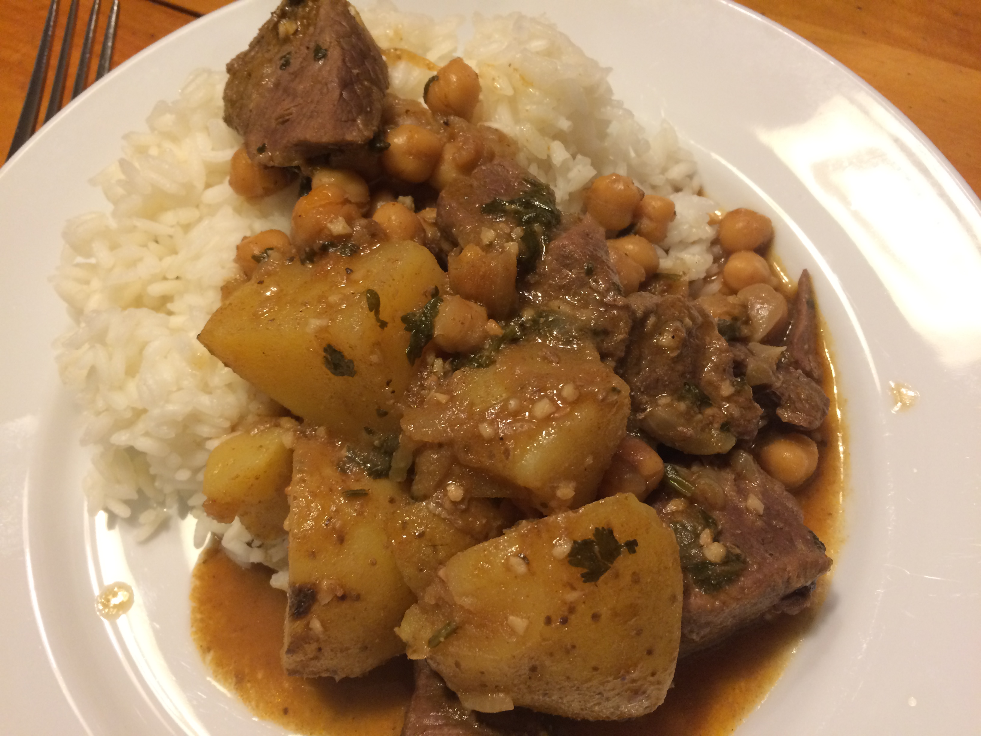 Lamb with Potatoes and Chickpeas