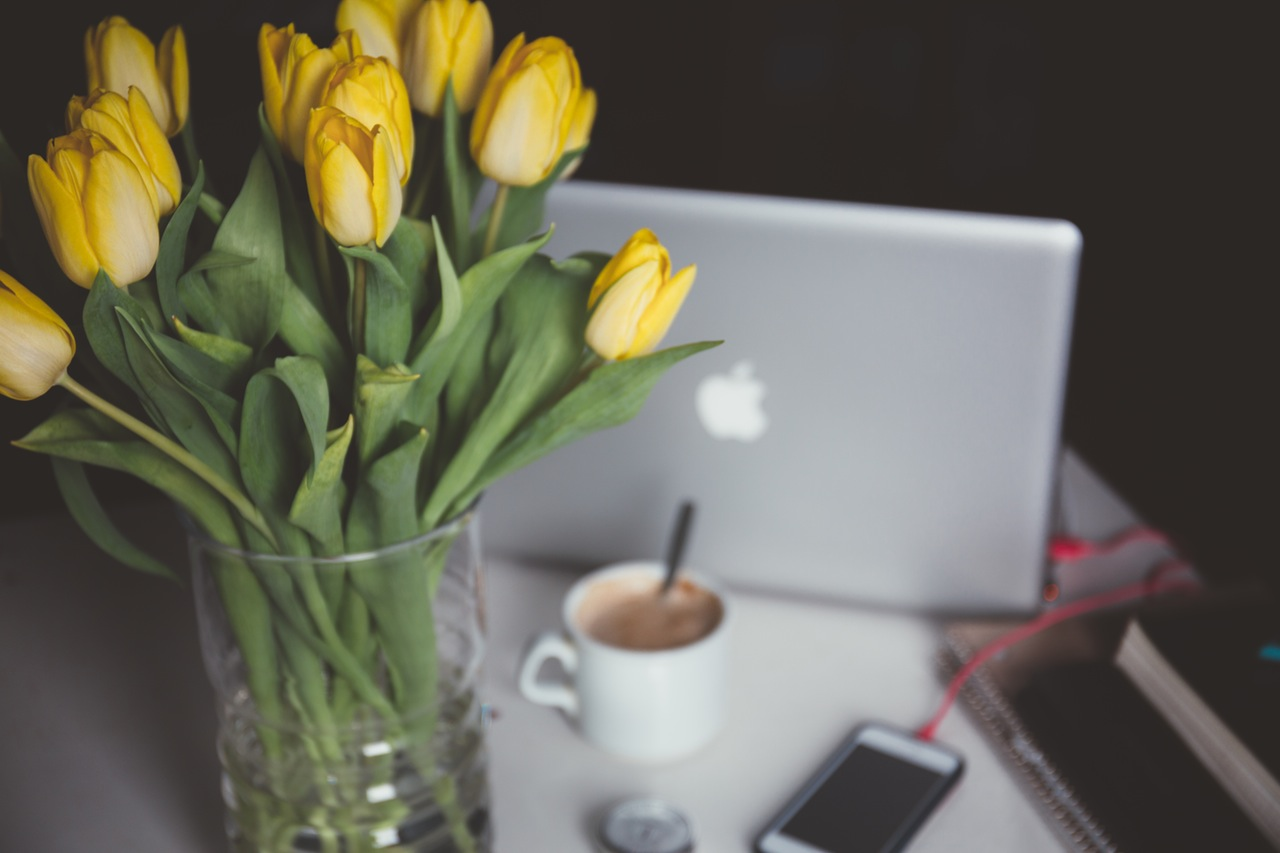 Office flowers - pexels
