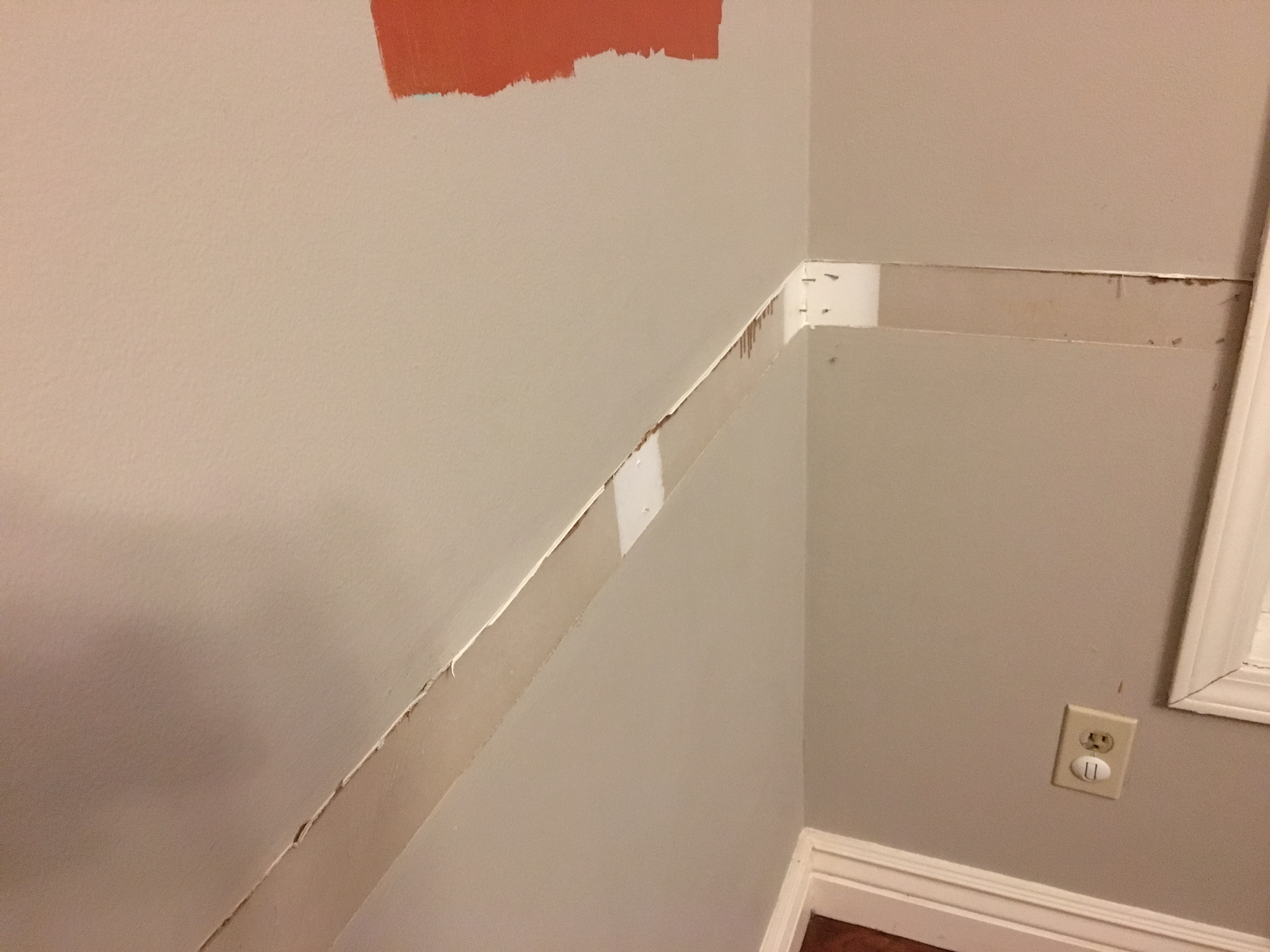 But Then Not So Great Things Happened And The Paint Above Chair Rail Started Bubbling Peeling In Worst Place This