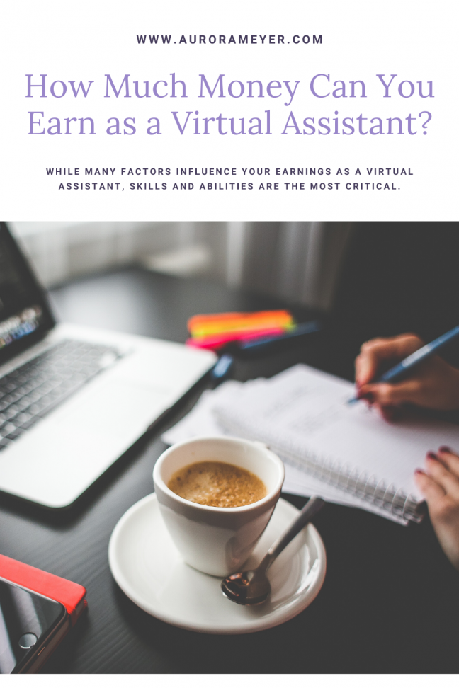 Virtual Assistant Desk to accompany How Much Money Can You Earn as a Virtual Assistant post by Aurora Meyer