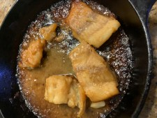 photo of miso cod cooking by Aurora Meyer on Dispatches from the Castle