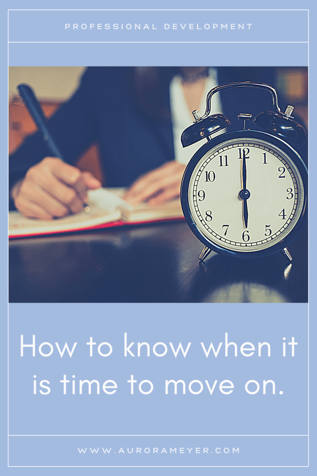 Image depicting an employee and a clock to go with the post How to know when it is time to move on by Aurora Meyer on Dispatches from the castle