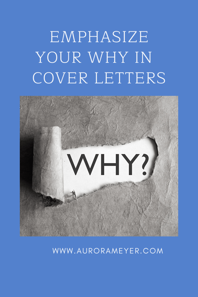 Cover Letter Advice by Aurora Meyer on Dispatches from the Castle